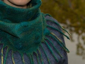 Войлочные аксессуары: шарф-снуд, капор или башлык.   Ярмарка Мастеров - ручная работа, handmade