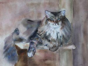 Международная выставка Портрет кошки. Ярмарка Мастеров - ручная работа, handmade.