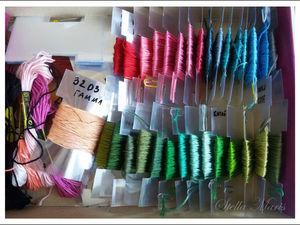 Система хранения ниток для вышивания. Ярмарка Мастеров - ручная работа, handmade.