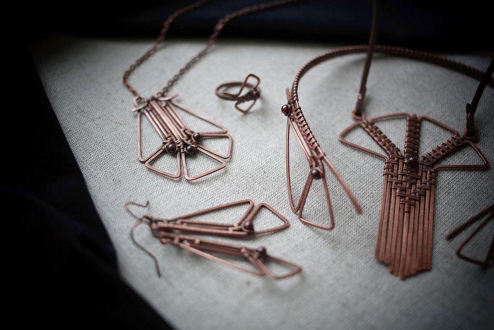 коллекция украшений, египет, медные украшения
