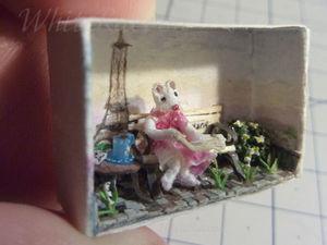 Мышка-малышка в Париже. Ярмарка Мастеров - ручная работа, handmade.