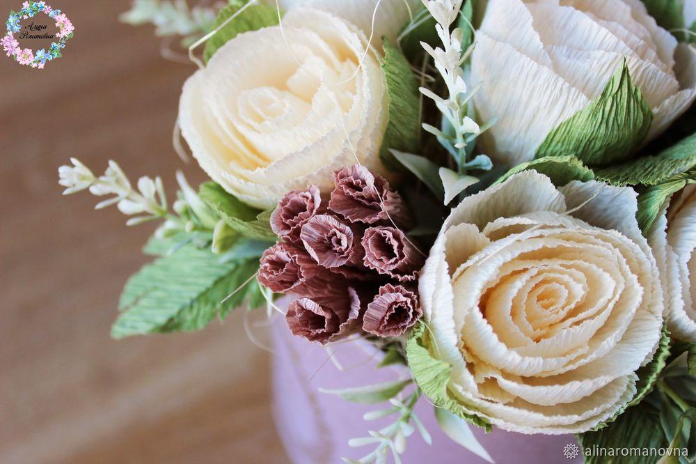 51dc62c1bd7a Создаем нежный букет цветов в шляпной коробочке. Видео мастер-класс ...