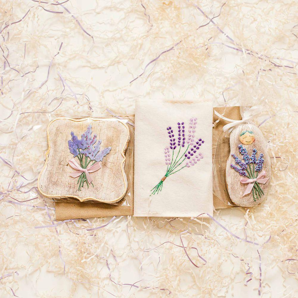 лаванда, бонбоньерки, подарок женщине