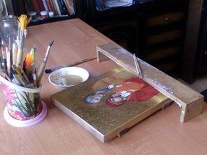 процесс работы над иконой. Ярмарка Мастеров - ручная работа, handmade.