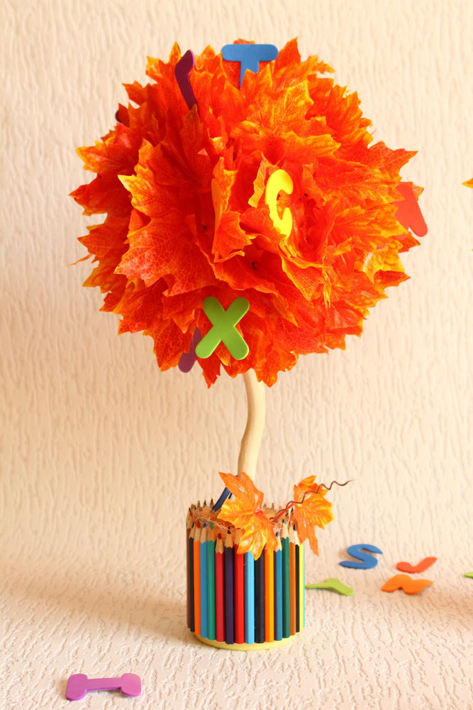 дерево знаний, подарок на 1 сентября, осенние листья, подарок своими руками
