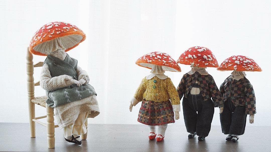 Жизнь мухоморов-эстетов: удивительные персонажи Yinyue Duzii