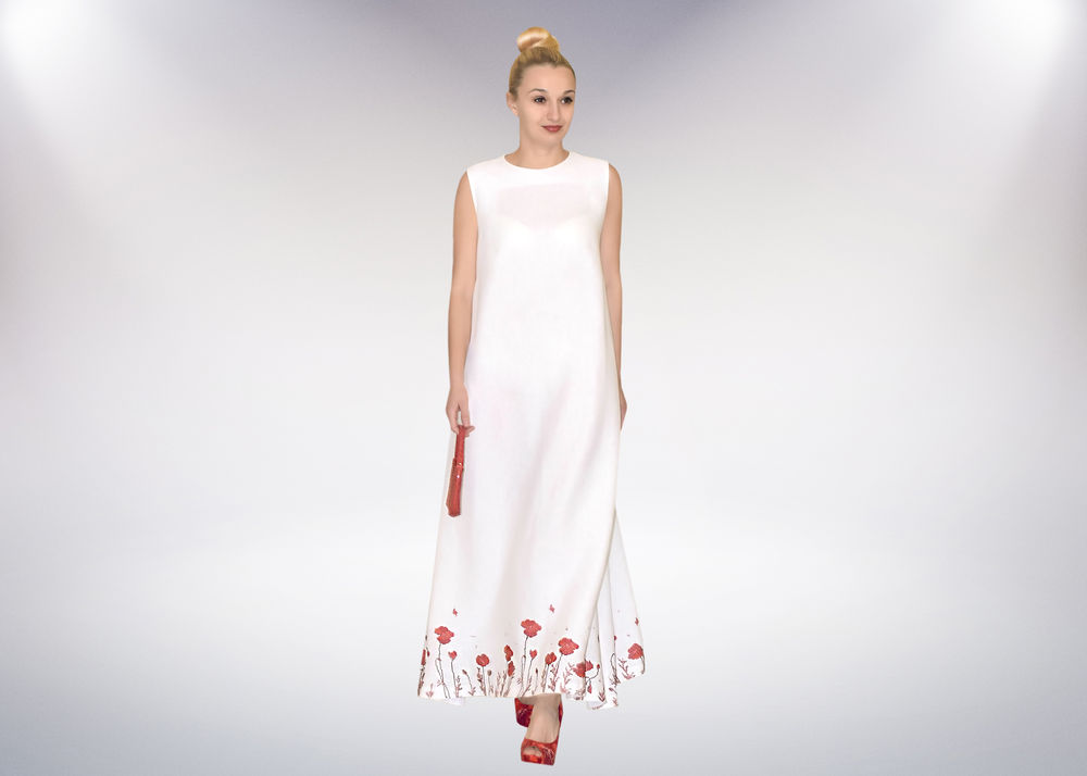 платье, платье длинное, маки, сарафан, летнее платье, стильное платье, модная одежда