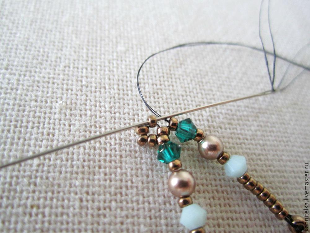 плетение сережек