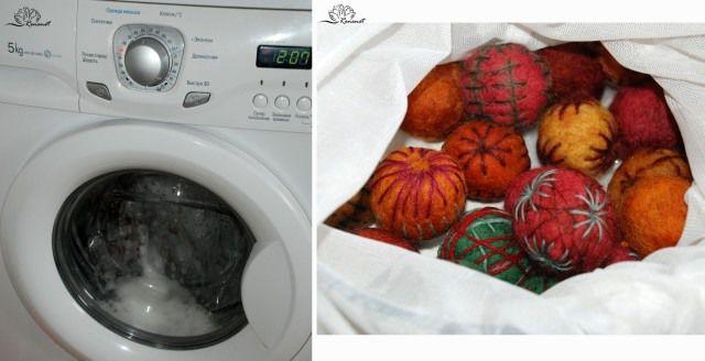 «Этно-бусы» — валяние в стиральной машине. Эксперимент №1 ...