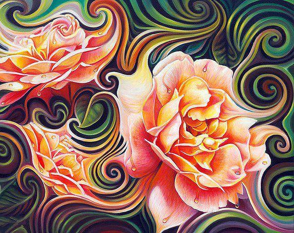 алмазная мозаика, лилии
