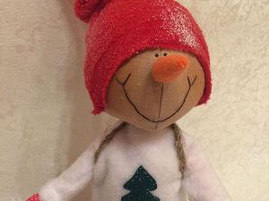 Путешествие в зимний лес: создаем снеговика. Ярмарка Мастеров - ручная работа, handmade.