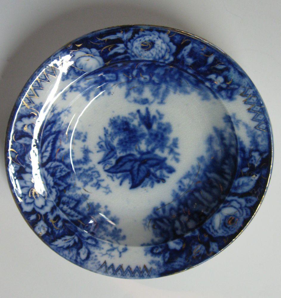 Flow blue — антикварная красота из Англии, фото № 27