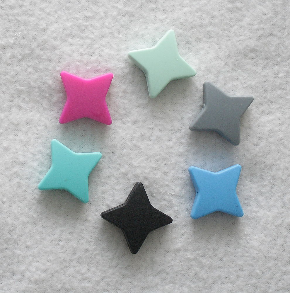 силиконовые бусы, звёзды, держатель для пустышки, материалы для творчества