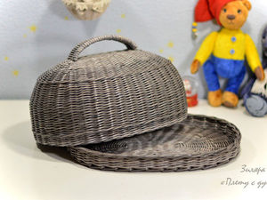 Фотоотчет плетеной хлебницы для Юлии!. Ярмарка Мастеров - ручная работа, handmade.