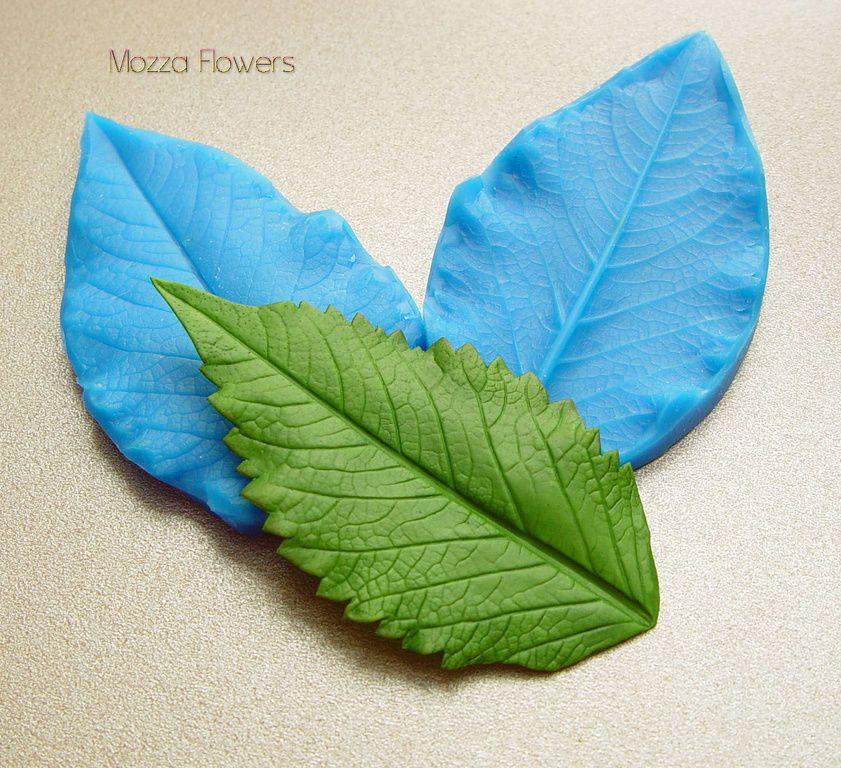 силиконовые молды, как лепить листья