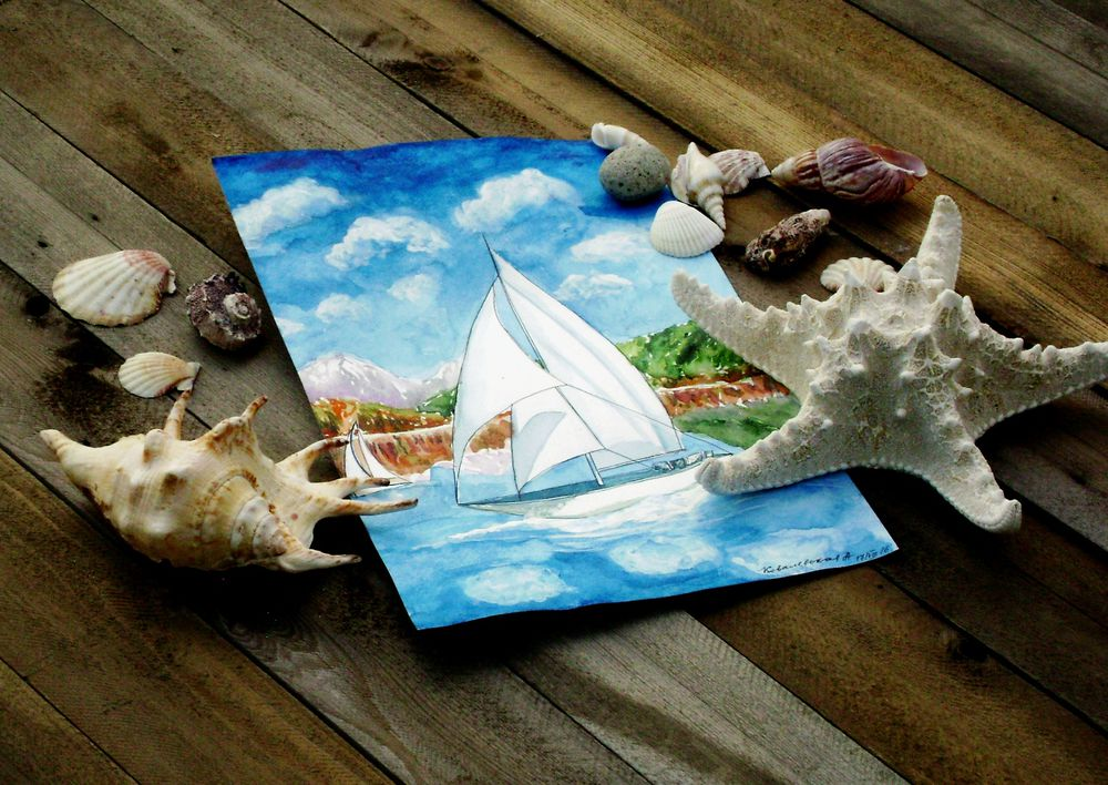 серия картин, отдых на море