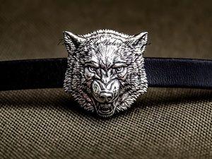Новый значок брошь: сердитый волк. Ярмарка Мастеров - ручная работа, handmade.
