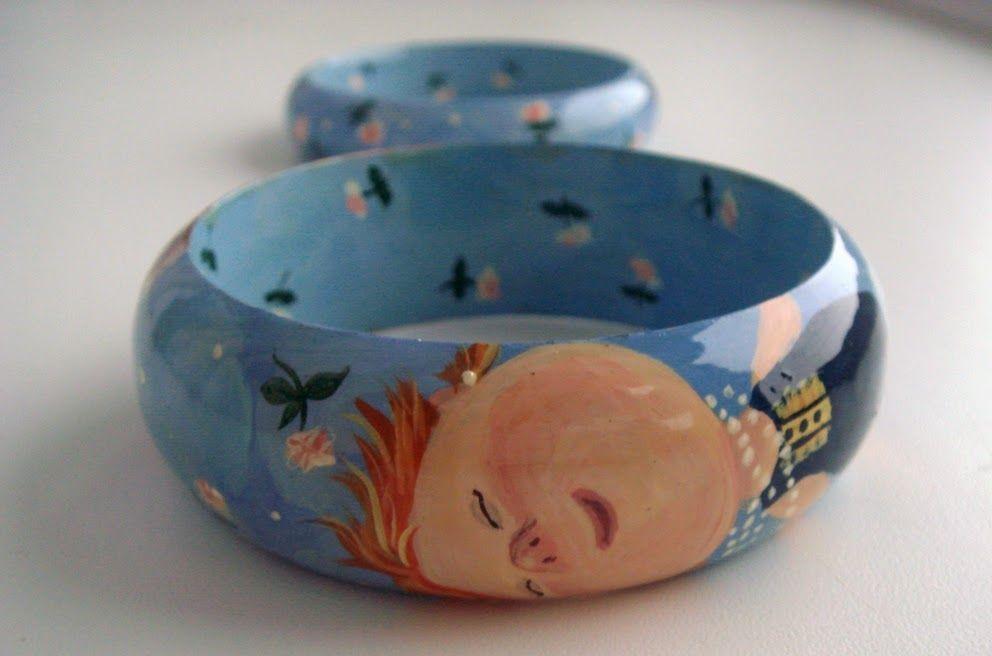 подарок девушке, браслеты деревянные