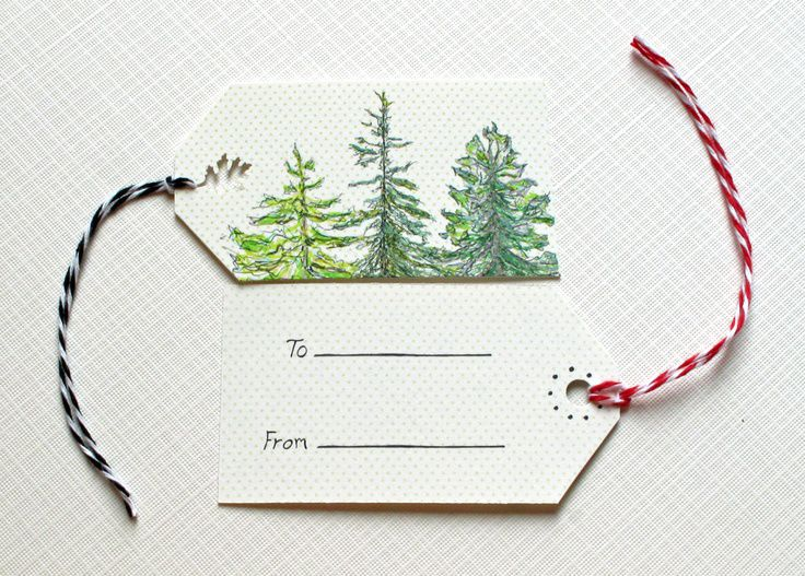.evergreen gift tags.