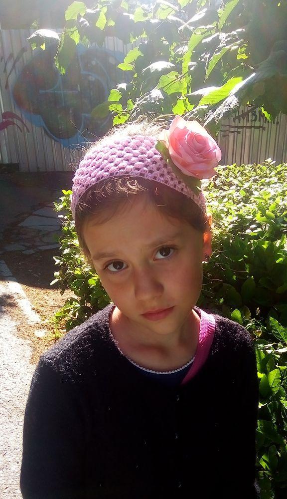 повязка на голову, роза из фома