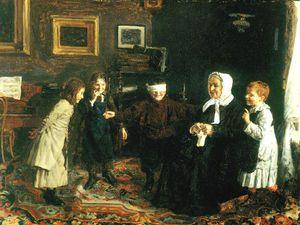 Старички и внуки на полотнах разных художников. Ярмарка Мастеров - ручная работа, handmade.