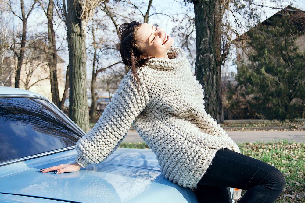 свитера из толстой пряжи спицами фото снимали эпизод