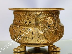 РЕДКОСТЬ Кашпо лев бронза латунь Германия 37   Ярмарка Мастеров - ручная работа, handmade