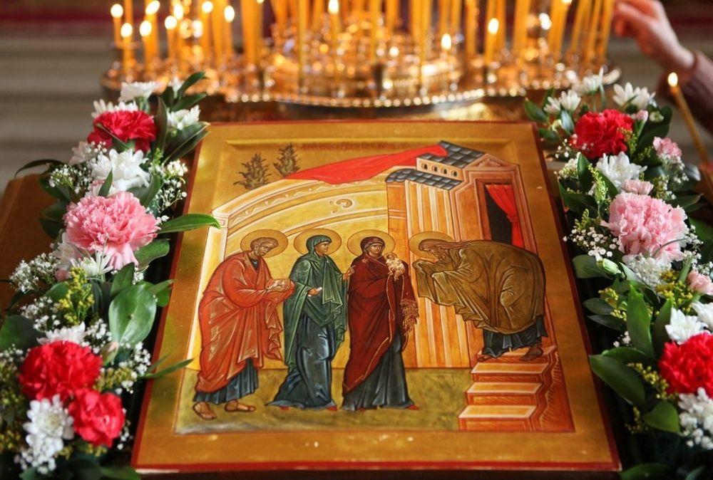 праздник, православие, церковный праздник, сретение, весна, религия, иконы