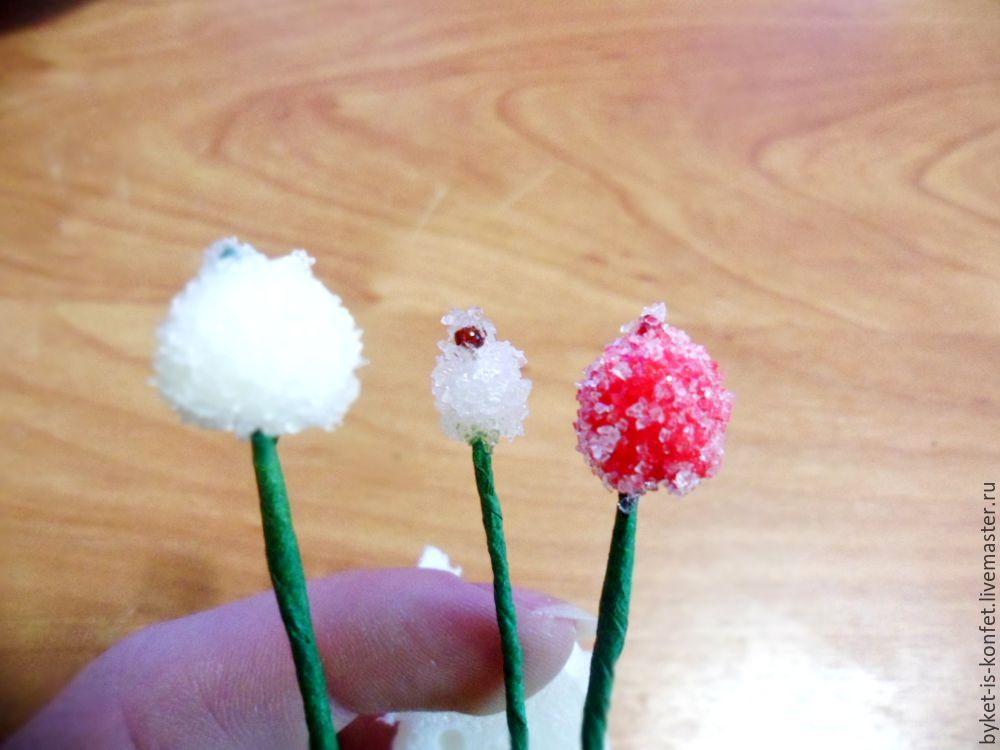 Сахарные ягоды для рукоделия своими руками 57
