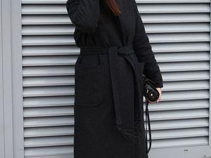 Теплое женское пальто с поясом. Ярмарка Мастеров - ручная работа, handmade.