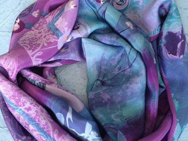 Акция выходного дня - скидка 20% на шелковые шарфы-снуды!!! | Ярмарка Мастеров - ручная работа, handmade