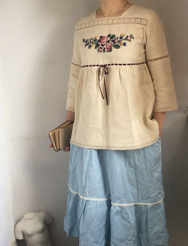дизайнерская одежда, блуза, вышивка