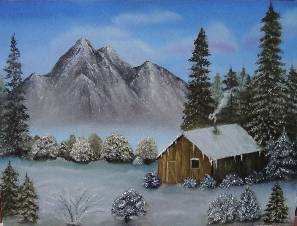 горы, картина маслом, символ, символика