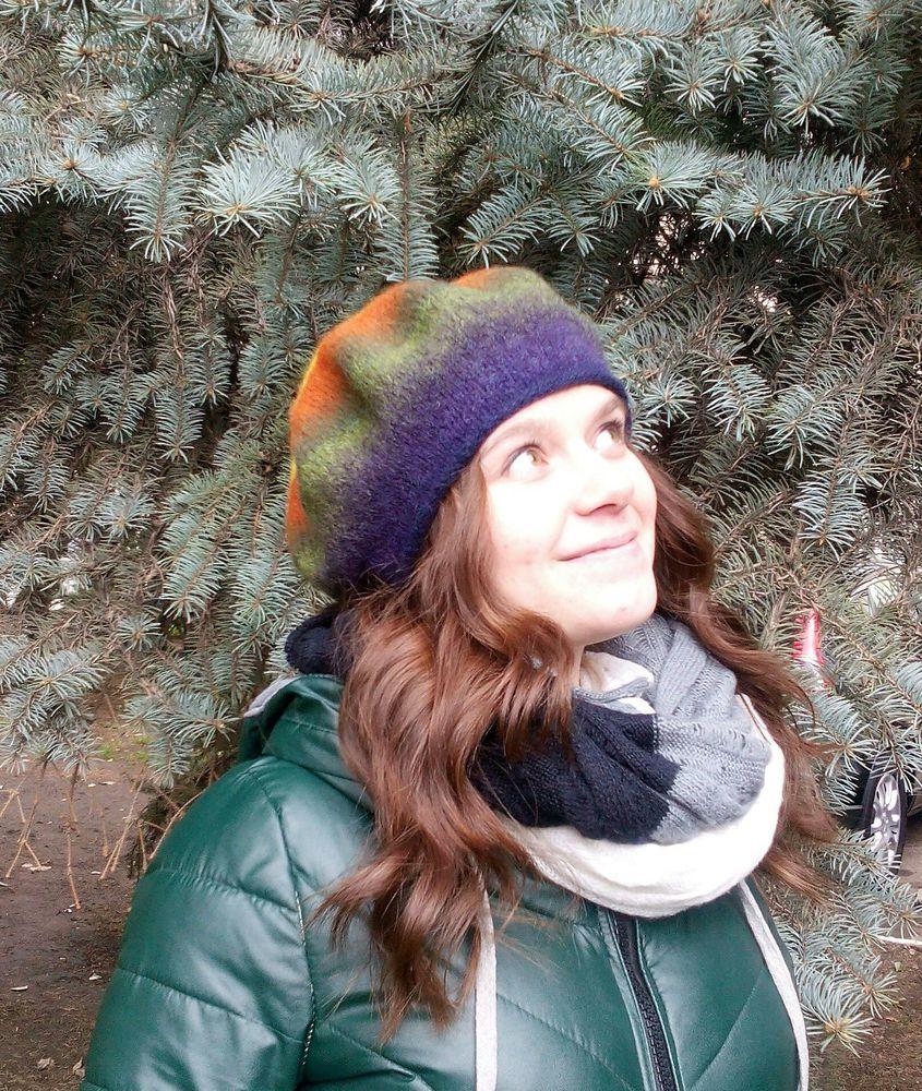 Вязано-валяные береты, фото № 7