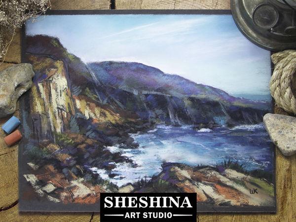 Рисуем морскую бухту сухой пастелью. Ярмарка Мастеров - ручная работа, handmade.