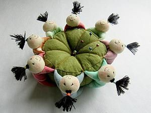 Sewing a Pincushion with 8 Chinese Kids. Livemaster - handmade