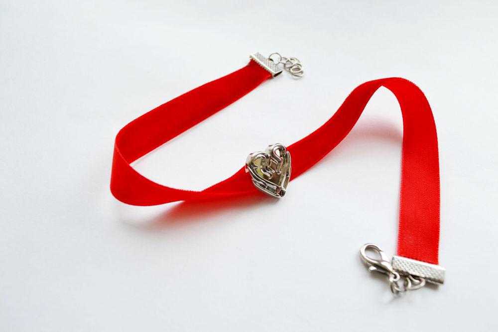 сюрприз, бархатный чокер, красный цвет, 14 февраля
