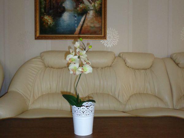 Орхидея в горшочке,искуственная,латекс | Ярмарка Мастеров - ручная работа, handmade