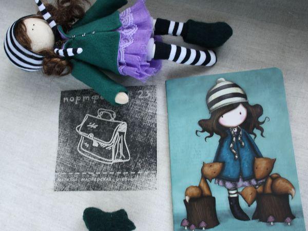 Прекрасный мастер-класс для начинающих — шьем куклу для панно | Ярмарка Мастеров - ручная работа, handmade