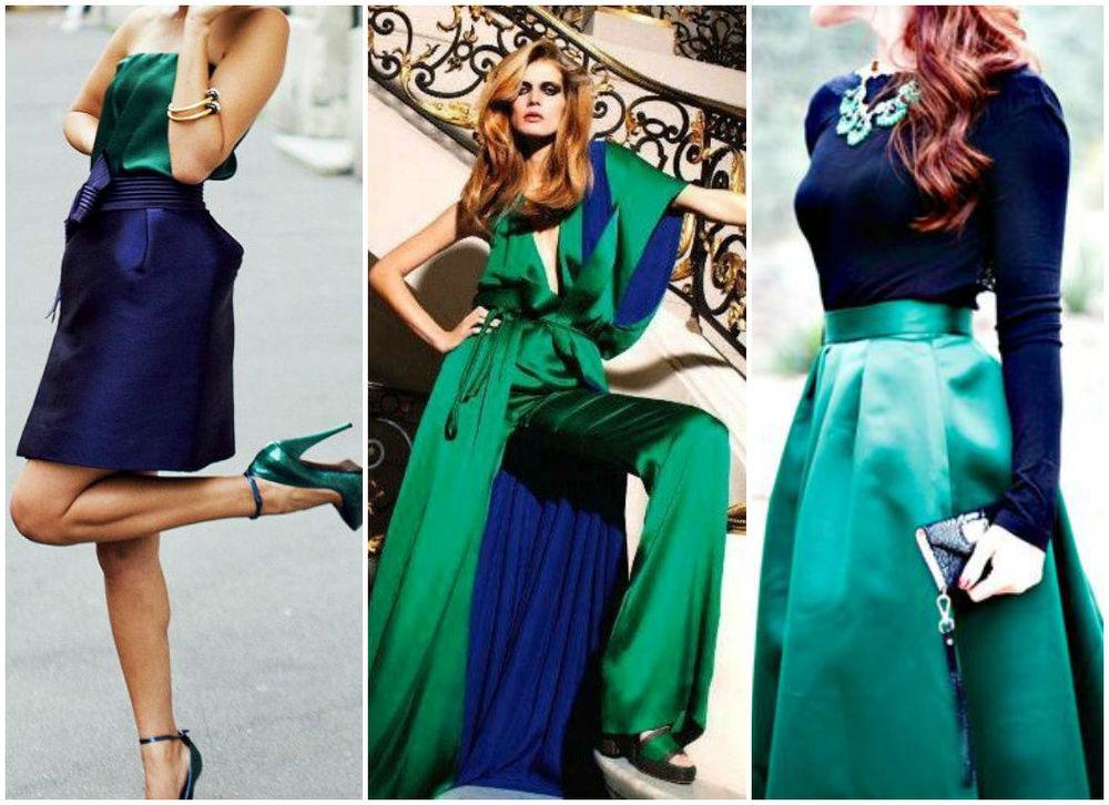 ворота сочетание зеленого и синего в одежде фото виды