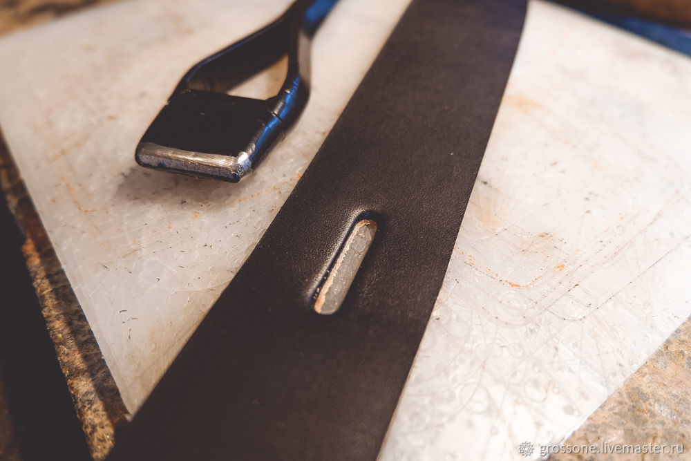 Step-by-step Tutorial for a Stitched Belt of English Bridle Leather, фото № 7