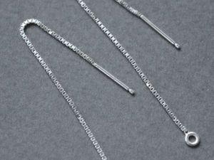 "Все точки над ""и"": сережки-протяжки и цепочки!). Ярмарка Мастеров - ручная работа, handmade."