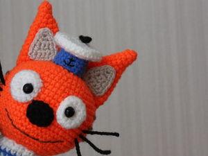 Мастер-класс: вязание Коржика из мультфильма «Три кота». Ярмарка Мастеров - ручная работа, handmade.