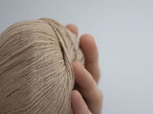 """Пряжа из пуха верблюда, цвет """"кремовый"""". Ярмарка Мастеров - ручная работа, handmade."""