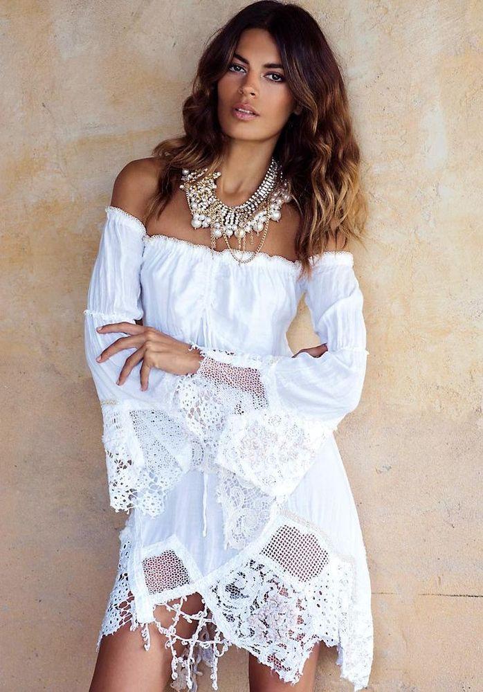 Белое бохо, или Шикарная одежда для королевы летнего пляжа, фото № 35
