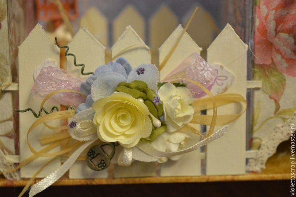 Мастер-класс: изготавливаем дуэт из чайных домиков с конфетницей, фото № 15