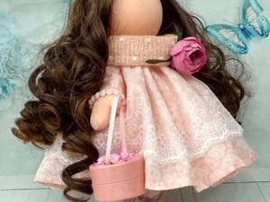 Друзья, сделав заказ до конца января на куколку из наличия, скидка 20 процентов!. Ярмарка Мастеров - ручная работа, handmade.