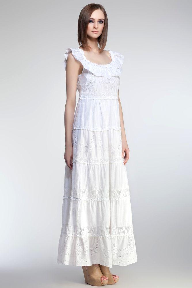 Белое бохо, или Шикарная одежда для королевы летнего пляжа, фото № 25