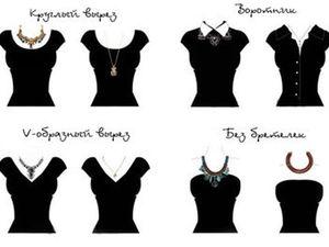 Подбираем украшение на шею в зависимости от вырезка. Ярмарка Мастеров - ручная работа, handmade.