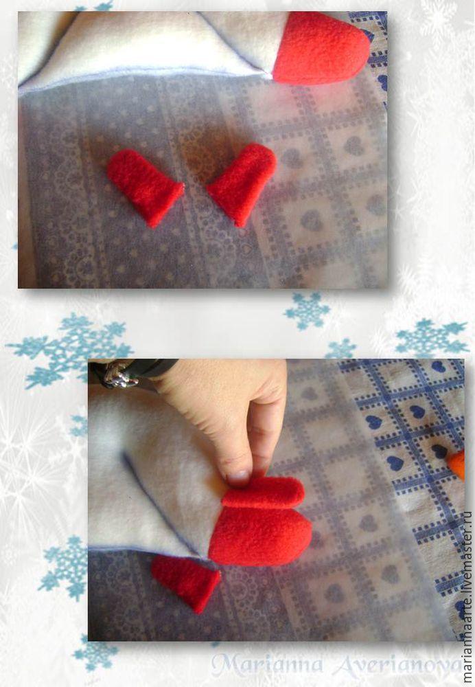 Мастер-класс по созданию забавной новогодней игрушки «Снеговичок-тюфячок», фото № 17
